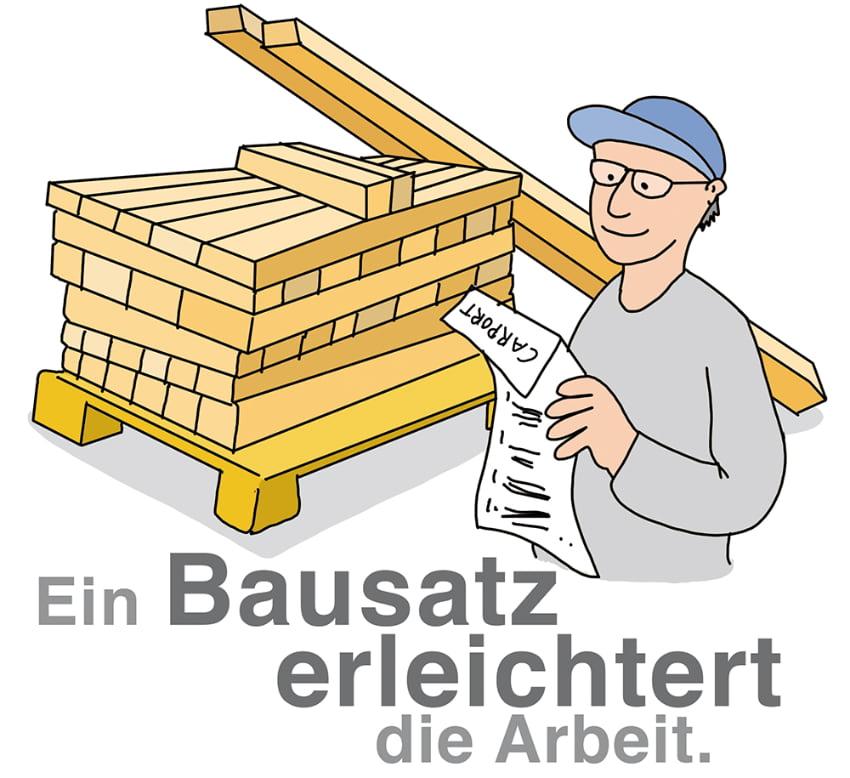 Carport Aufbau: Ein Bausatz erleichtert die Arbeit