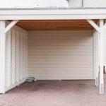 Carport Dachaufbau