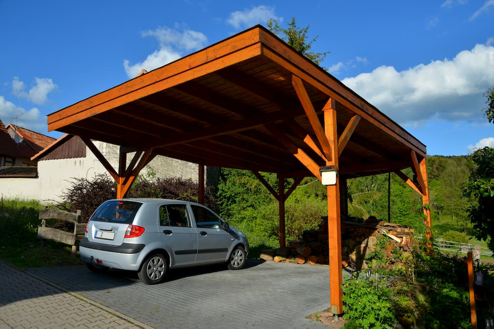 Carport aus Holz © Hermann, stock.adobe.com