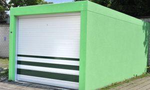 Fassadengestaltung für Fertiggaragen