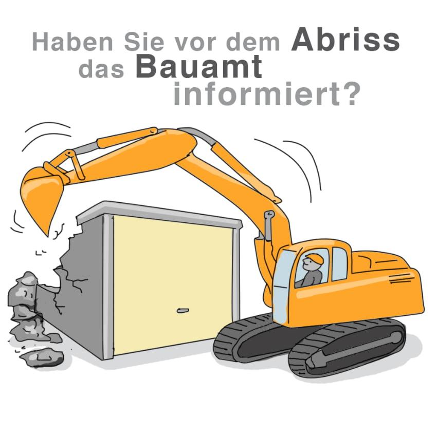 Vor dem Abriss: Das Bauamt informieren