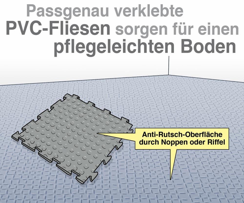 PVC-Fliesen sorgen für die pflegeleichten Boden
