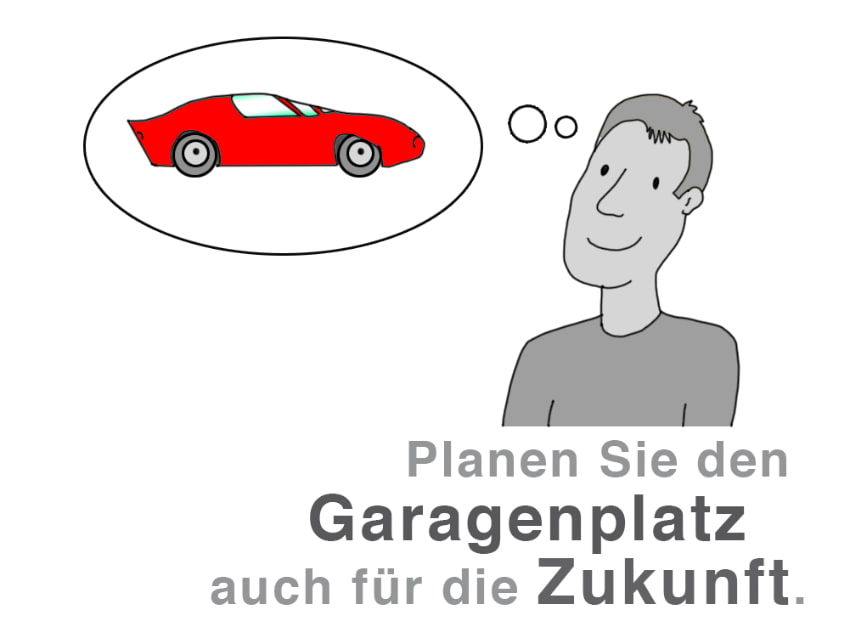 Planen Sie die Garage auch für die Zukunft