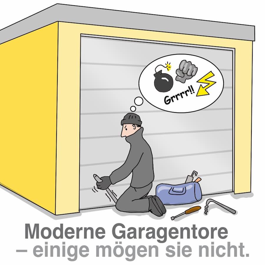 Moderne Garagentore bieten guten Einbruchschutz