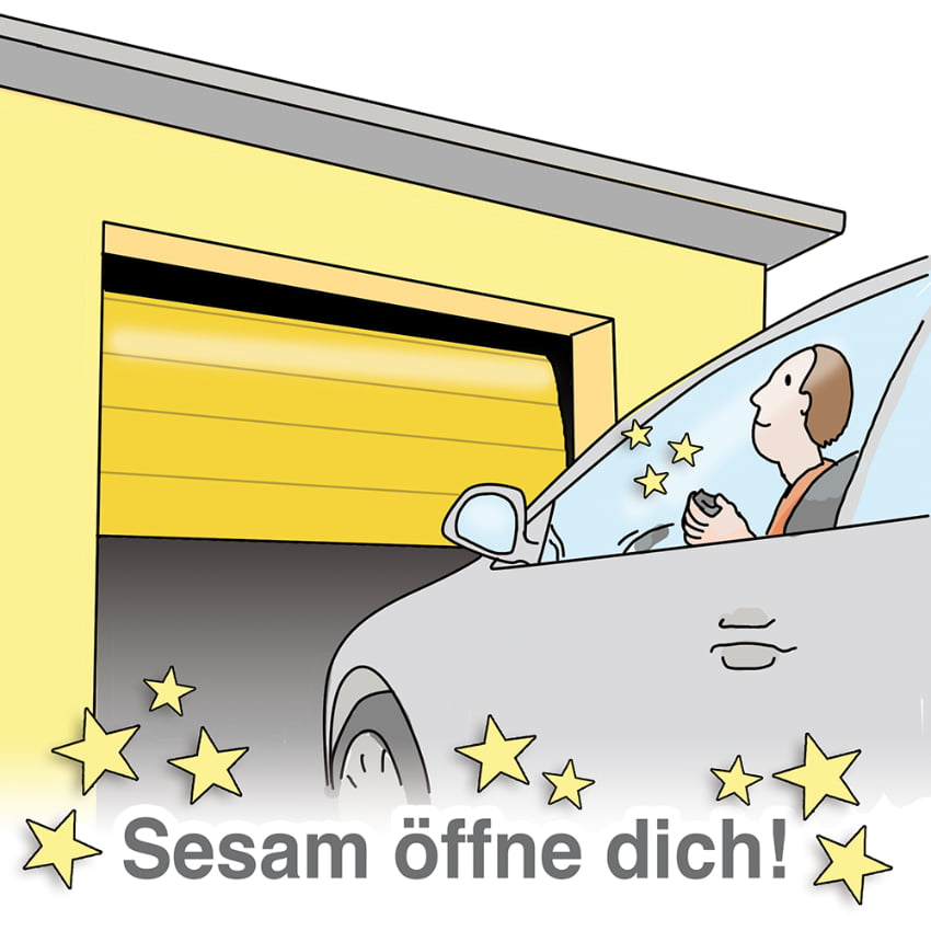 Garagentorantrieb: Sesam öffne dich