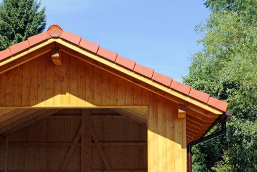 Fertiggaragen aus holz for Carport dach decken