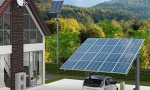 Solarcarport Konstruktion