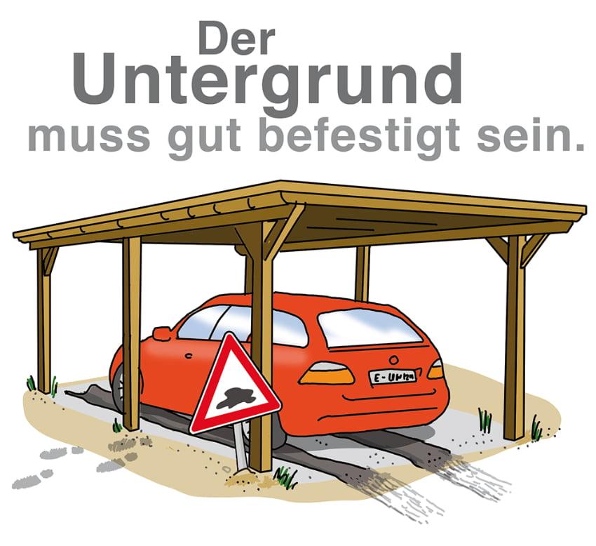Der Carport Oder Das Carport: Carport Untergrund: Auskoffern Für Einen Soliden Stand