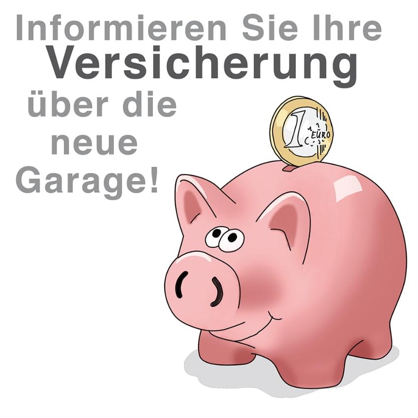 Informieren Sie die Versicherung über die neue Garage